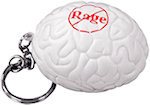 White Brain Keyring Stress Balls